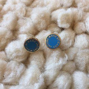 Marc Jacobs | Enamel Logo Disc Stud Earrings